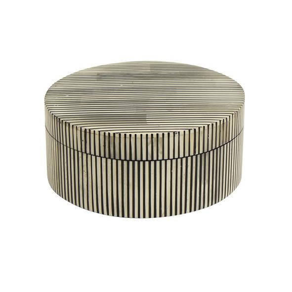 Cleo striped round box