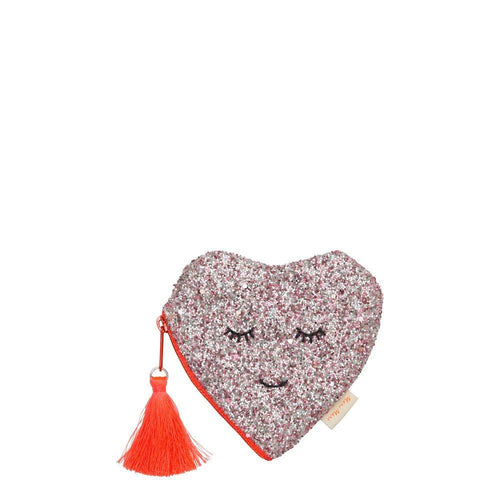 Meri Meri - Glitter heart coin purse