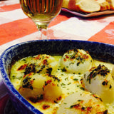 Atlantic sea scallops, wild caught seafood, scallops, scallops au gratin, Butcher Box Canada, scallop recipes, scallop appetizer, Ocean Wise, seafood, fish, ethically fished,