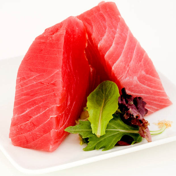 Ahi Tuna Steak - 2 Steaks, 6oz Each individually vacuum sealed