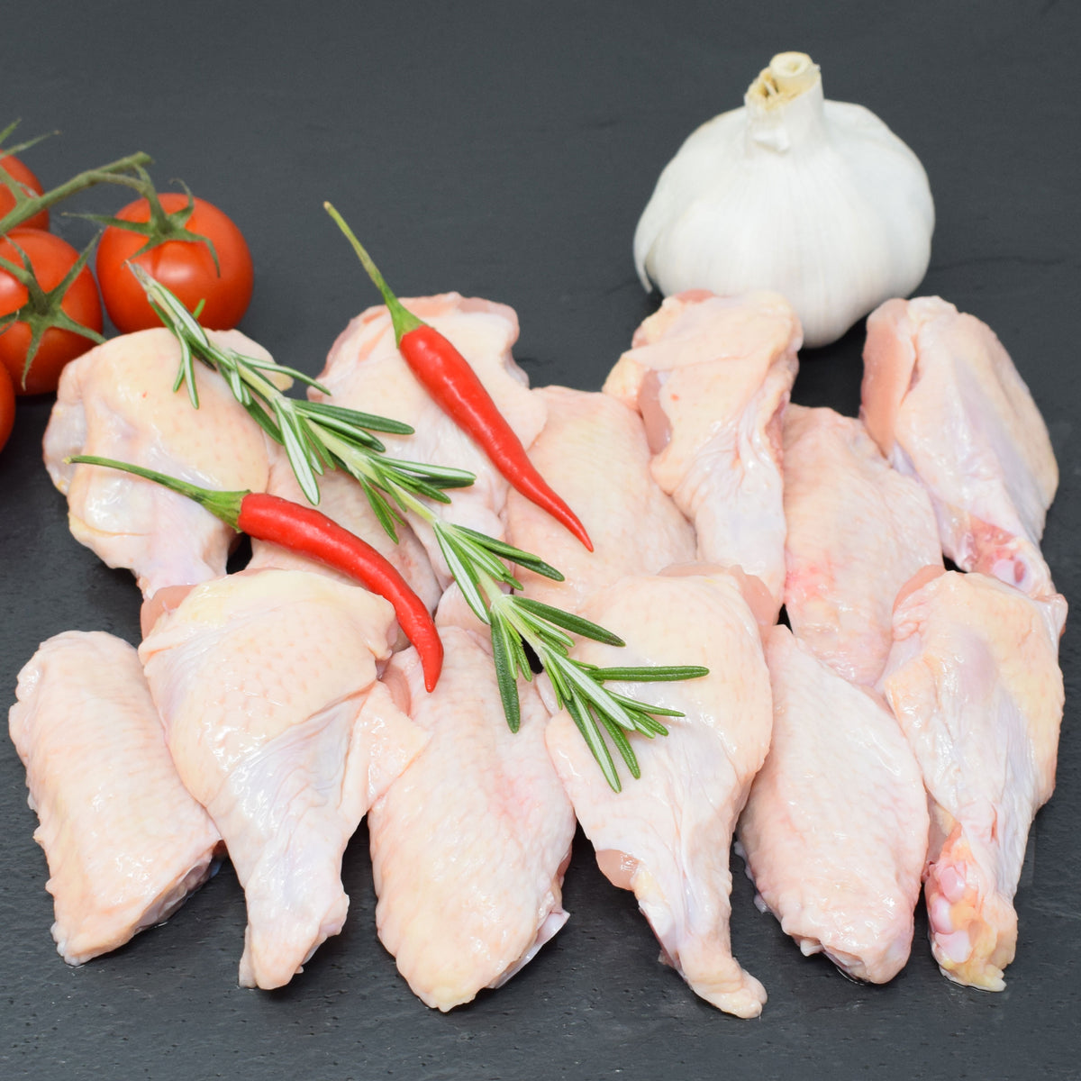 Air Chilled Chicken Wings - This Pack Contains 2lbs of Wings in 1lb Packs. - Butcher Box