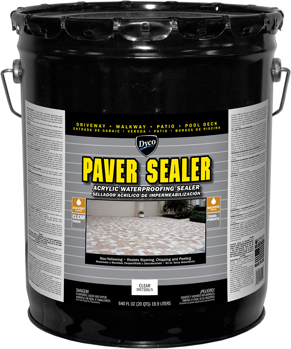 Dyco PAVER SEALER Solvent Based Acrylic Waterproofing Sealer - Behr wet look paver sealer
