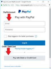 Pay with PayPal Account OR Credit / Debit Card - ARTIS Men