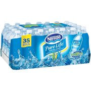 NESTLE PURE LIFE Purified Water, 16.9-ounce plastic deposit bottles (Pack of 32)