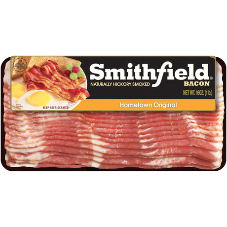 Smithfield® Naturally Hickory Smoked Hometown Original Bacon 16 oz. Pack