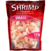 Small Cooked Shrimp: peeled, deveined, tail-off, 12 Oz
