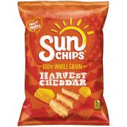 Sun Chips Harvest Cheddar 100% Whole Grain Corn Wheat Snacks 7 oz.