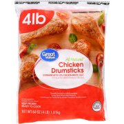 Great Value Frozen Chicken Drumsticks 4lb bag