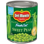 Del Monte® Fresh Cut® Sweet Peas 8.5 oz. Pull-Top Can