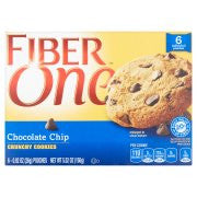 Fiber One Chocolate Chip Crunchy Cookies 6-0.92 oz. Pouches