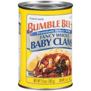 Bumble Bee Fancy Whole Baby Clams 10oz