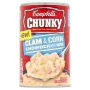 Campbell's Chunky Clam & Corn Chowder with Bacon Soup 18.8oz