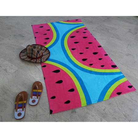 MS 34X64 PRINTED SHEARED BEACH TOWEL WATERMELON