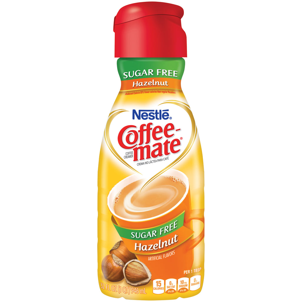 COFFEE-MATE Hazelnut Sugar Free Liquid Coffee Creamer 32 fl. oz. Bottle