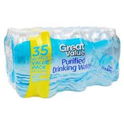 Great Value Purified Drinking Water, 16.9 Fl Oz, 35 Ct