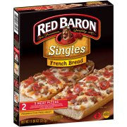 Red Baron Singles French Bread 3 Meat Pizzas, 2 count, 11 oz