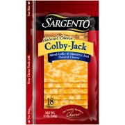 Sargento Natural Colby-Jack Deli Style Sliced Natural Colby & Monterey Jack Cheese 11 Slices Pack
