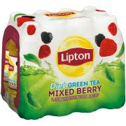 Lipton Diet Mixed Berry Green Tea 12-16.9 fl. oz. Plastic Bottles