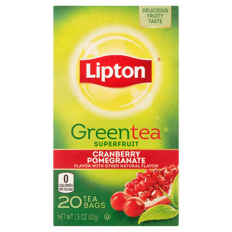 Lipton Cranberry Pomegranate Green Tea Bags, 20 ct