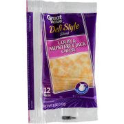 Great Value Deli Style Sliced Colby & Monterey Jack Cheese, 12 ct, 8 oz
