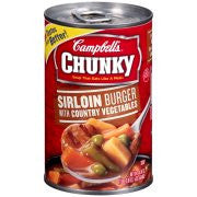 Campbell's Chunky Sirloin Burger with Country Vegetables Soup 18.8oz