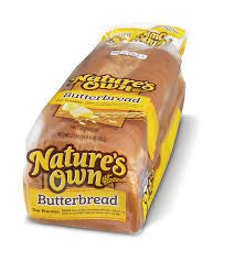 New Delicious Nature's Own Butter Bread