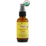 Facial Floral Toner for Normal to Dry Skin.  USDA Certified Organic