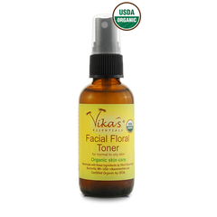 Facial Floral Toner for Normal to Oily Skin - USDA Certified Organic