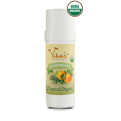 Tropical Deodorant - USDA Certified Organic. January Special - 15% OFF