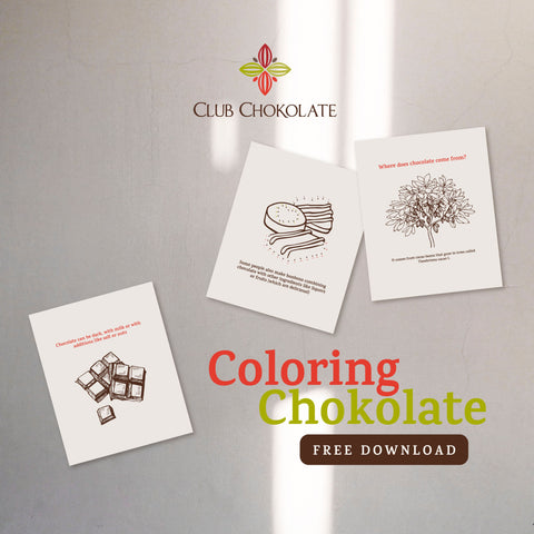Dark chocolate coloring book