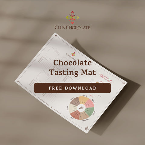 FREE DARK CHOCOLATE GUIDE TASTING MAT