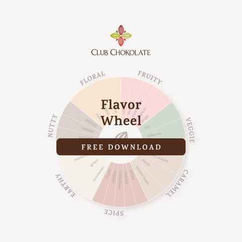 FREE DARK CHOCOLATE GUIDE FLAVIR WHEEL