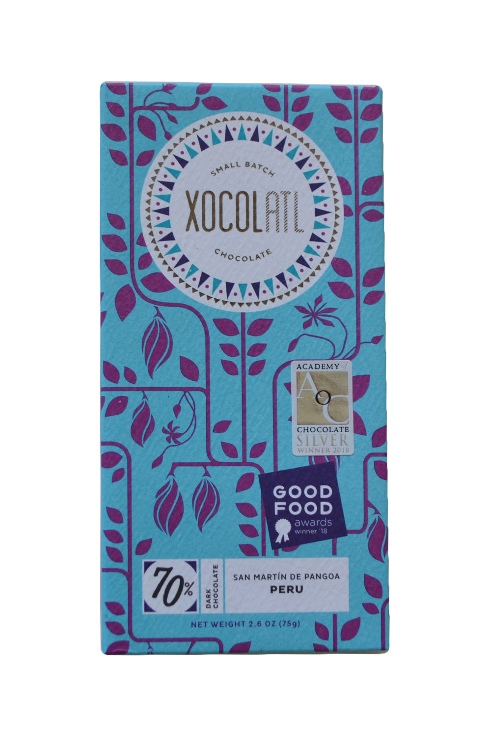 dark chocolate xocolatl peru pangoa