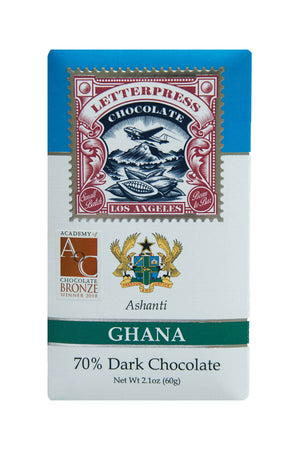 Letterpress Dark Chocolate - Ashanti, Ghana