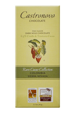 Castronovo Dark-Milk Chocolate - Sierra Nevada, Colombia - Rare Cacao Collection