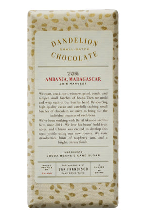 Dandelion Dark Chocolate - Madagascar