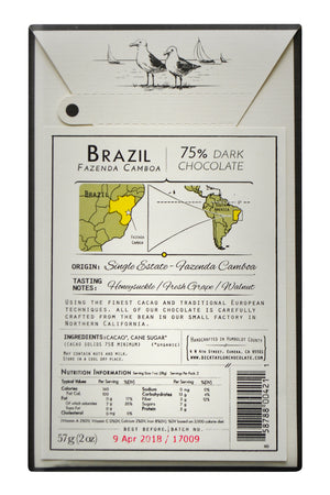Dick Taylor Dark Chocolate - Brazil Fazenda Camboa back