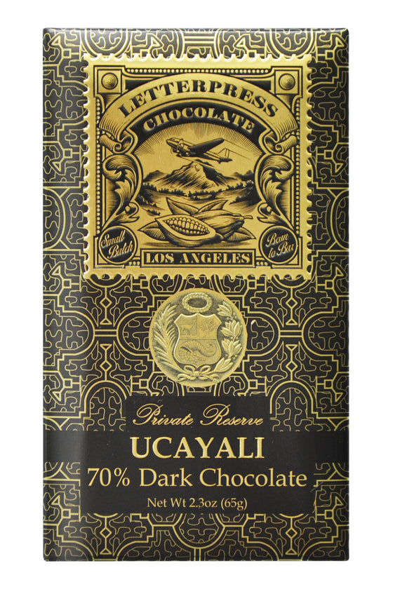 Letterpress Dark Chocolate - Ucayali, Perú