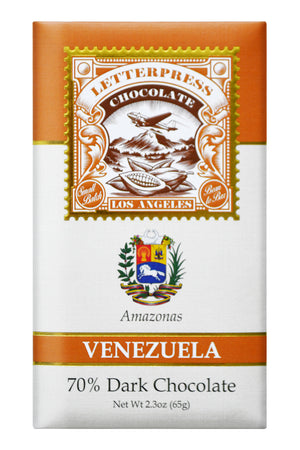 Letterpress Dark Chocolate - Venezuela, Amazonas