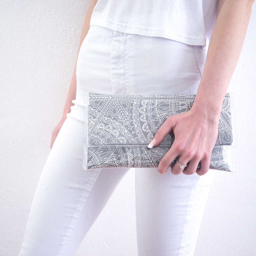 Grey Diamond Clutch