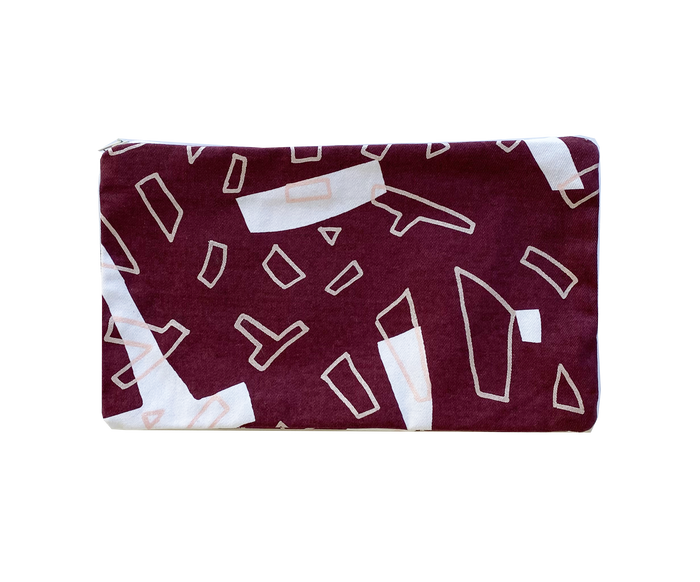 Rectangle Purse - Maroon / Pink