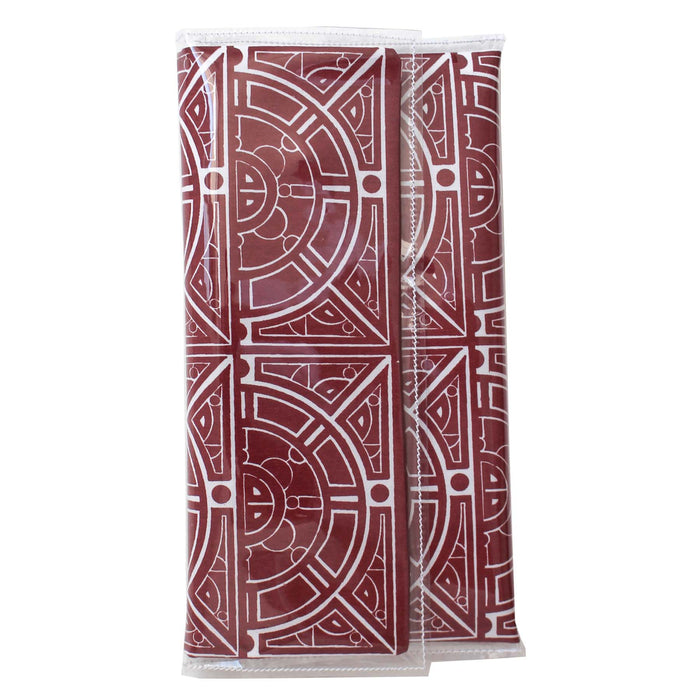 Maroon Semi Circle Clutch