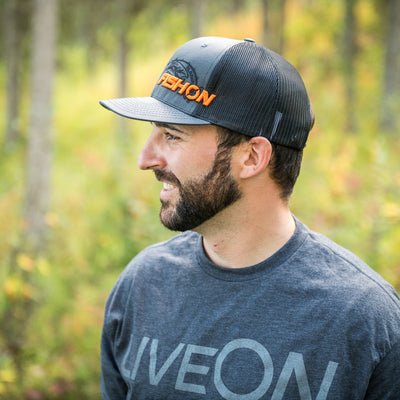 Grey & Orange FishOn snapback