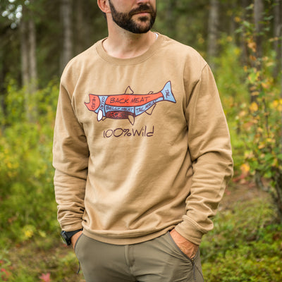 NEW - Salmon Meat Crew Sweatshirt