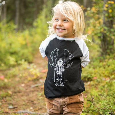 Gnarly Moose Hunter Baseball T