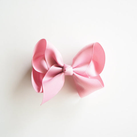 Dusty Pink Clip Bow - Large