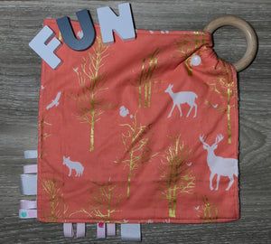 Tag Blanket. Pink Woodland