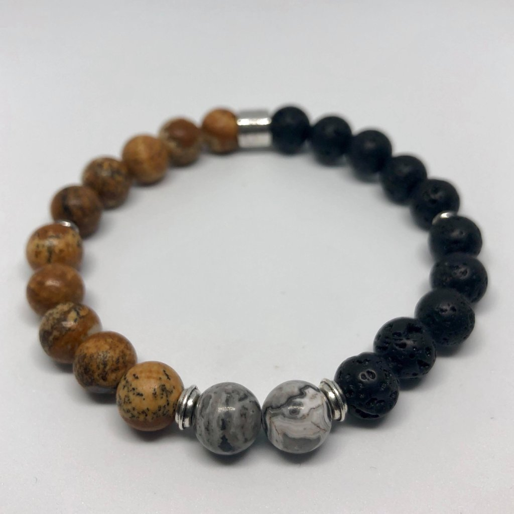 Bracelet Beachboy - Sand Grey & Black