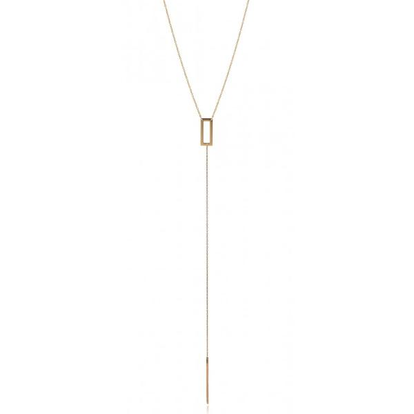Rectangle Drop Necklace - Sanchaya Designs