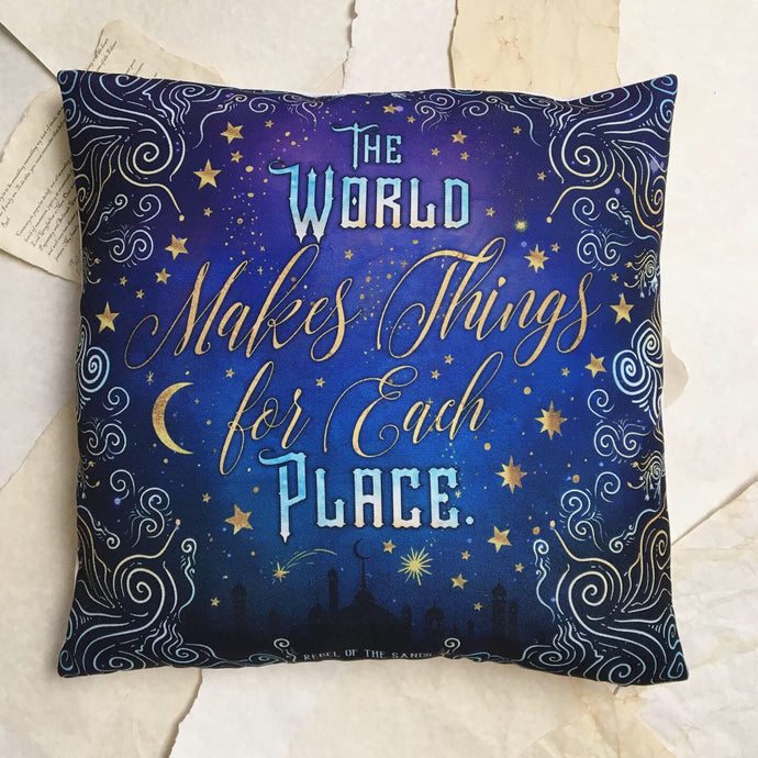 Things for Each Place pillow cover
